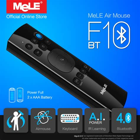 mele  bt wireless keyboard fly air mouse remote control