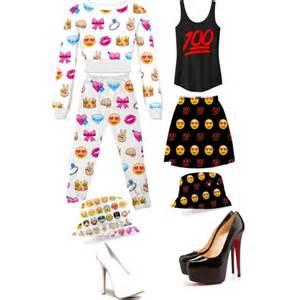 Emoji Black Outfit for Girls