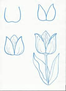 Easy Drawings Step by Step Flowers