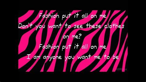 lady gaga fashion  lyrics hd youtube