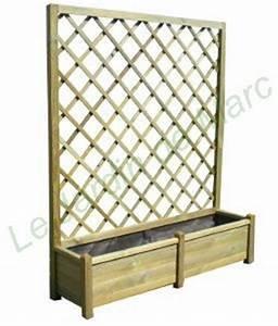 Jardiniere bois avec treillis de 140x40 hauteur 180cm for Lovely palette de couleur leroy merlin 9 brise vue en panneaux treillis en bois naturel leroy merlin