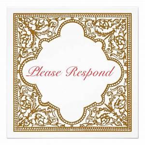 Chocolate brown vintage frame wedding rsvp 525x525 for Wedding invitation rsvp time frame