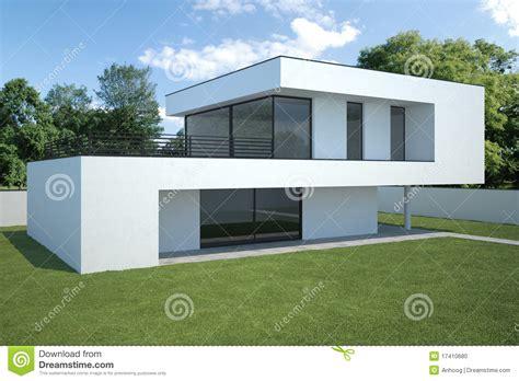 maison moderne extérieur avec la pelouse photo stock