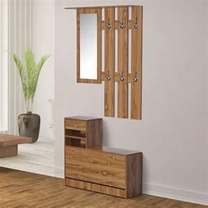 Porte Manteau Entrée : homcom ensemble de meubles d 39 entr e meuble chaussures ~ Melissatoandfro.com Idées de Décoration