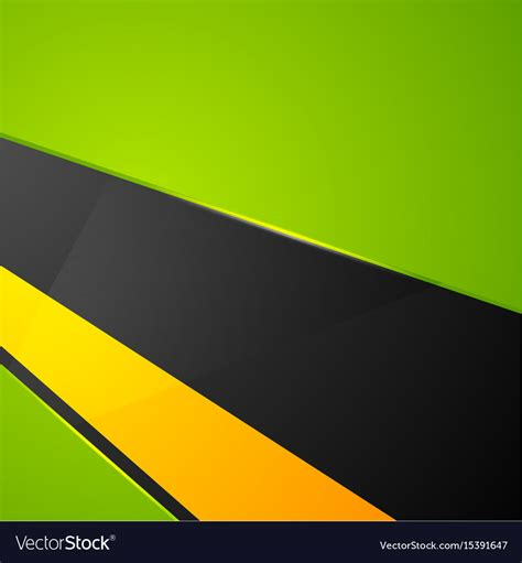 Black Yellow Green Abstract Background by Green Orange Black Abstract Corporate Background Vector Image