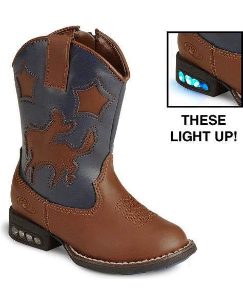Toddler Light Up Boots roper toddler boys light up bronco cowboy boot 09 017