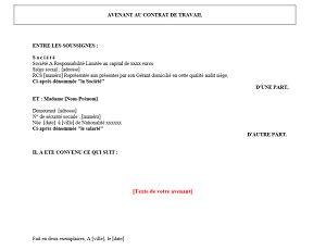 Modification Contrat De Travail Acceptation Tacite by Mod 232 Le D Avenant Au Contrat De Travail