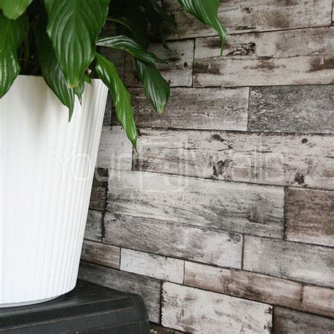 wood plank effect wallpaper details about rustic scrapwood reclaimed wood wallpaper grey beige natural tones striped wood