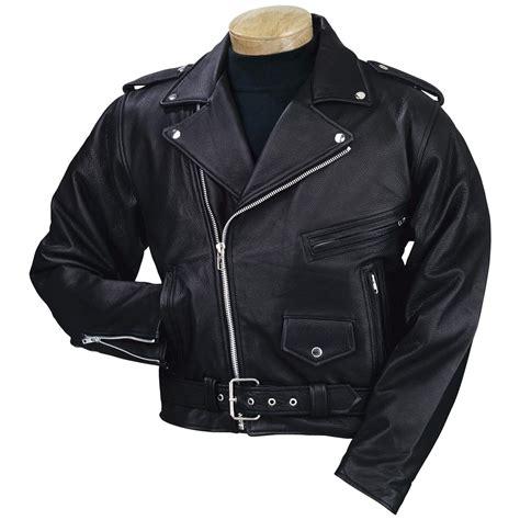Men's Burk's Bay® Leather Motorcycle Jacket, Black