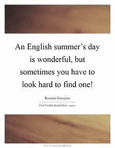 An English summ... Wonderful Looks Quotes