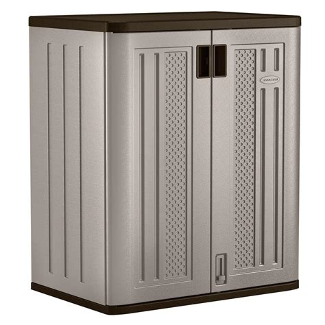 patio storage cabinet home depot suncast 30 in x 36 in 2 shelf resin base storage cabinet