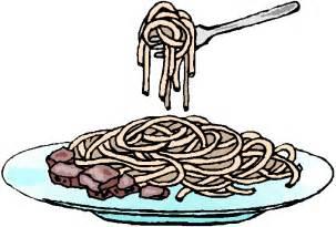 Spaghetti Dinner Clip Art Black and White
