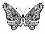 Coloring Animals Pages Adult Adults Animal Butterfly Printable Advanced Uncolored Folk Ornaments Tattoo Sweet Lot Tattooimages Biz Bestcoloringpagesforkids sketch template