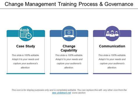 change management training process  governance