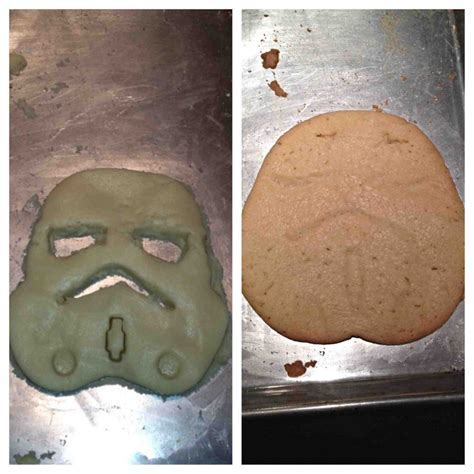 Attempted to make a Stormtrooper cookie... Turned into ...