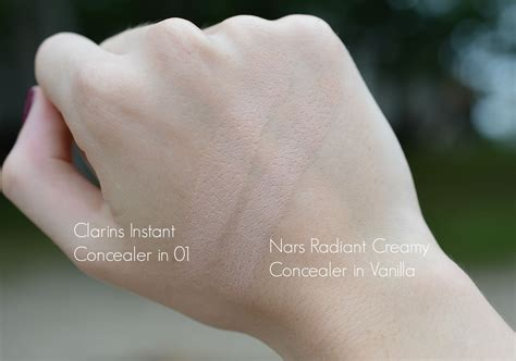concealer nars creamy radiant clarins vanilla instant vs end swatch concealers decided favourite compare today