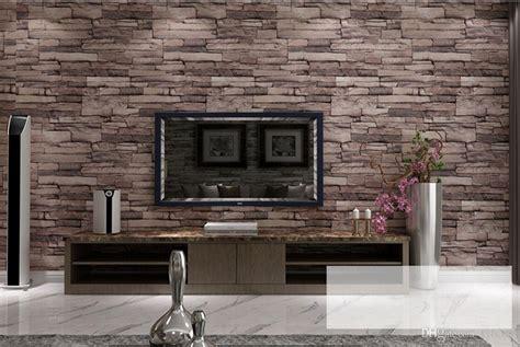 luxury wood blocks effect brown stone brick
