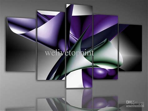 in stock framed 5 panels high end canvas painting modern wall decoration panel picture