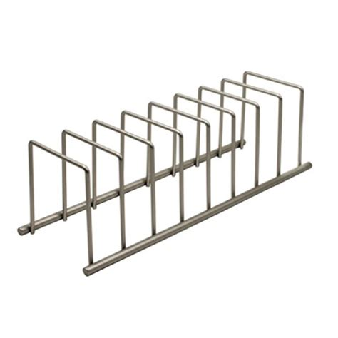 spectrum diversified euro lid organizer plate rack lid holder square satin nickel