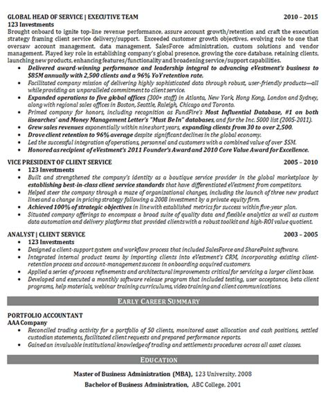 chief operations officer resume coo resume sle chief