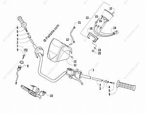 Arctic Cat Atv 2005 Oem Parts Diagram For Handlebar Assembly