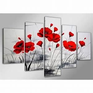 tableau moderne imprime 160 x 80 cm coquelicot achat With chambre bébé design avec champ de fleurs achat