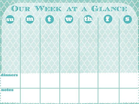 week at a glance calendar 18 back to school family command center ideas free