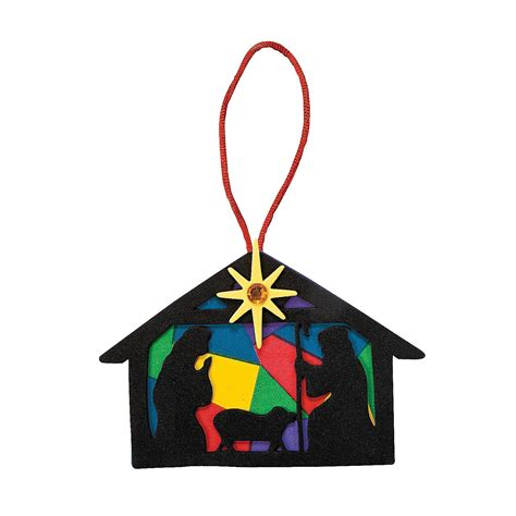 nativity silhouette christmas ornament craft kit oriental trading