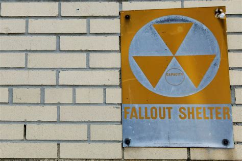 shelter fallout nuclear york shelters modern war cold era sign protect building nukes korean could north reuters hung seen yellow