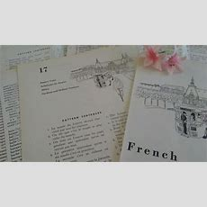Vintage French Lesson Book Pages Bundle Of 8 Learn To Speak Frenchenglish Vocabulary Paper