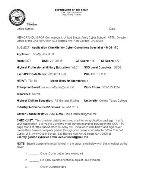 army memorandum  record template ferdinyasamayolvercom