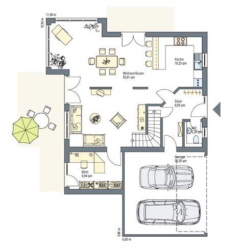 Grundriss Mit Doppelgarage by Haus Mit Doppelgarage Grundriss Houses Doppelgarage
