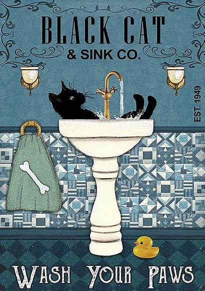 Cat Paws Wash Poster Sink Google Posters