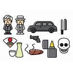 Yakuza Icons Crime Organized Vektor Vecteezy Kostenlose