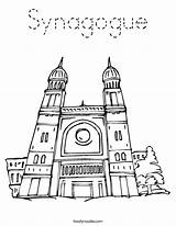 Synagogue Coloring Temple Judaism Clipart Drawing Worksheet Cliparts Outline Lotus Library Torah Twistynoodle California Usa sketch template
