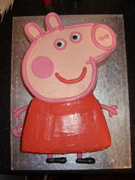 peppa pig cake template peppa pig cakecentral