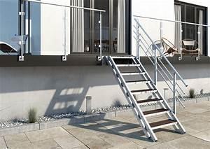 Wpc Wandverkleidung Außen : stahltreppe balkontreppe treppe aussentreppe new york 8 stufen belag megawood ebay ~ Frokenaadalensverden.com Haus und Dekorationen