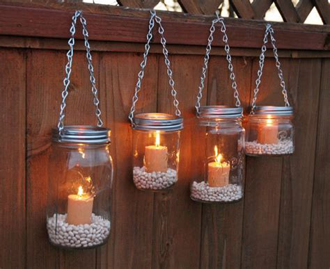 hanging jar garden lights diy from thecountrybarrel on