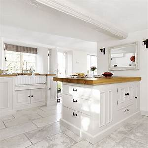 white country style kitchen with peninsula 1493