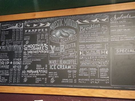 That is why it is highly crucial that your cafe menu ideas keep. Beautiful chalk menu board in Kingston, WA in 2020 | Chalk menu, Chalkboard restaurant, Coffee ...