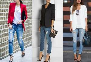 What to Wear with Boyfriend Jeans? Outfits with Boots Sneakers Heels | Fashion Rules