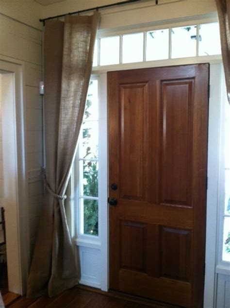 front door sidelight curtain rods front door curtains for the home