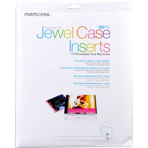Memorex Cd Jewel Case Inserts (50pack) 00700 B&h Photo Video