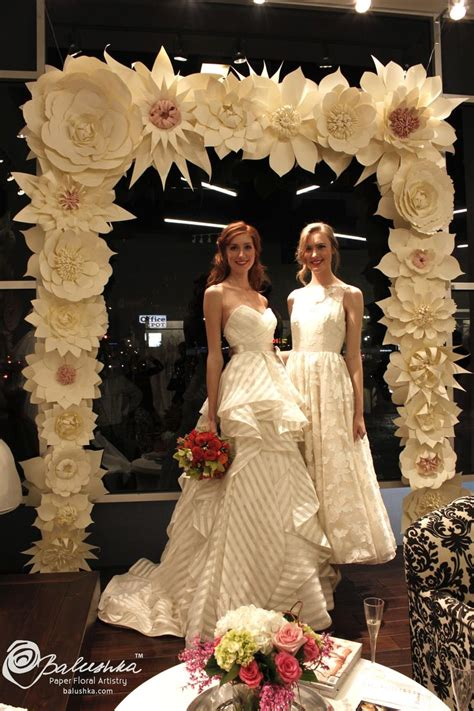 Handmade Paper Flower Arch For A Bridal Fashion Show