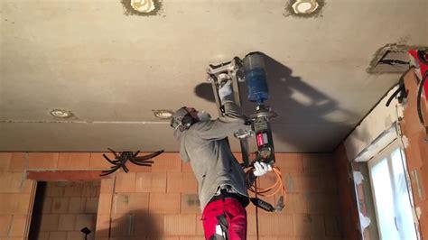 betonbohren ohne wasser ueberkopfbohrung  stahlbeton