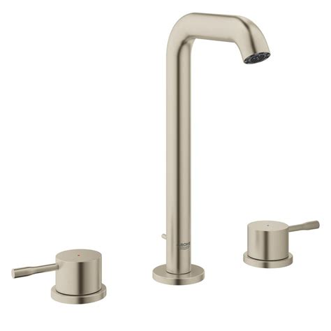 grohe essence faucet grohe essence new 8 in widespread 2 handle 1 2 gpm high