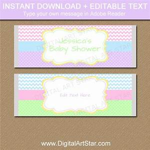 pastel baby shower candy wrapper template spring wedding With baby shower chocolate wrappers template