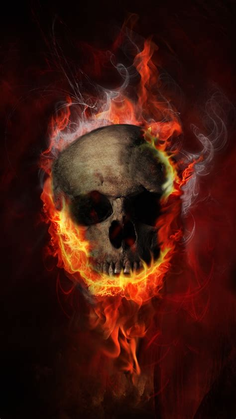 Burning Skull iPhone 6 / 6 Plus and iPhone 5/4 Wallpapers