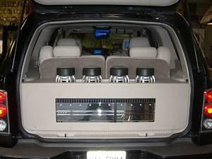 Cadillac Escalade 2004 Custom Subwoofer Enclosure With 4