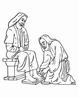 Coloring Jesus Feet Foot Clipart Washing Washes Printable Disciples Cliparts Washed Library Lamb Animal Easter Popular Coloringhome Favorites sketch template